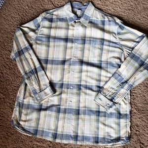 LL Bean Mens Plaid Button Down Shirt Size XXL Tall